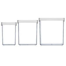 ClickClack Large Square Food Storage (Set of 3)