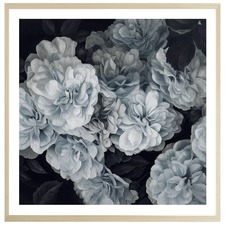 Blue Blooms Printed Wall Art
