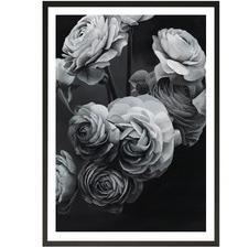 Black & White Bouquet Printed Wall Art