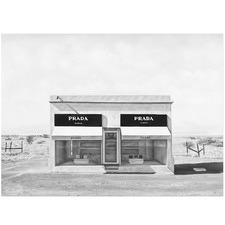 Black & White Marfa Printed Wall Art
