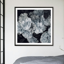 Blue Blooms Printed Wall Art