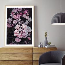 Pink Midnight Garden Printed Wall Art