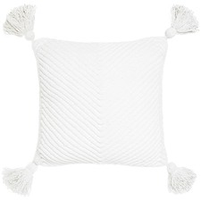 Como White Cotton Cushion