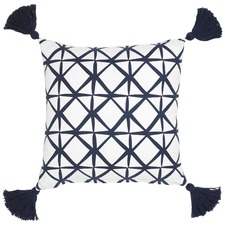 Isak Navy Cotton Cushion