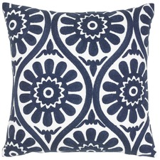 Marguerite Navy Cotton Cushion