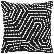 Tarry Black Cotton Cushion