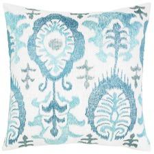 Yasmin Blue Cotton Cushion