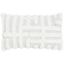 Zanda Ecru Cotton Cushion