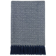 Atrani Navy Throw Rug