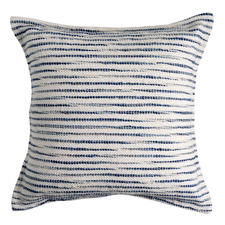 Navy Patterned Weave Sababa Cushion