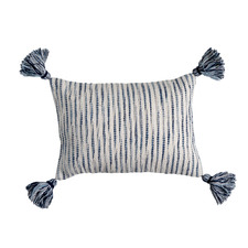 Navy Tasselled Toda Cushion