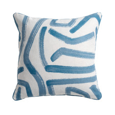 Printed Aoki Cotton-Blend Reversible Cushion