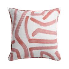 Printed Aoki Cotton-Blend Reversible Cushion