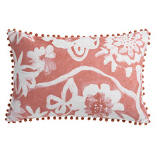 Printed Akita Cotton-Blend Reversible Cushion