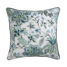 Printed Avignon Linen-Blend Reversible Cushion