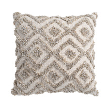 Natural Printed Piazza Cotton-Blend Cushion
