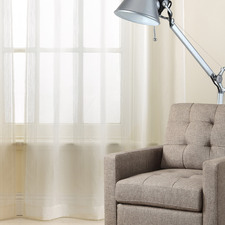 White Asina Sheer Pencil Pleat Single Panel Curtain