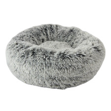 Grey Polar Faux Fur Pet Bed
