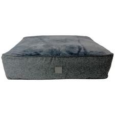 Grey Lux Dog Floor Cushion
