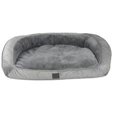 Grey Portsea Plush Dog Bed