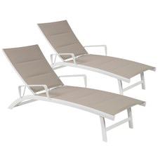 Beige Eden Sun Lounges (Set of 2)
