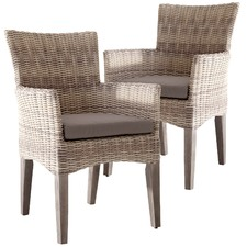 Latte Bistro Outdoor Dining Chairs (Set of 2)