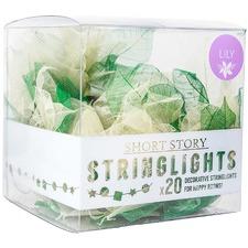 White Lily Leaf LED String Lights