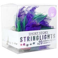 Purple Lily Leaf LED String Lights