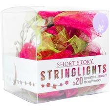 Pink Lily Leaf LED String Lights