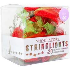 Red Lily Leaf LED String Lights