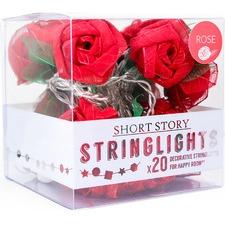 Red Rose LED String Light