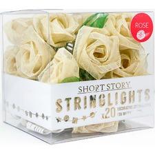 White Rose LED String Light