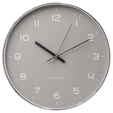 35cm Grey Grace Wall Clock