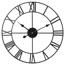60cm Black Carl Wall Clock