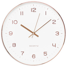 35cm White Ava Wall Clock