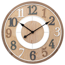 60cm Light Timber Brandon Silent Wall Clock