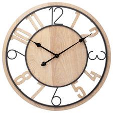 60cm Light Timber Gabe Silent Wall Clock