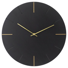 Black Leo Silent Wall Clock