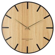 Light Timber Oscar Silent Wall Clock