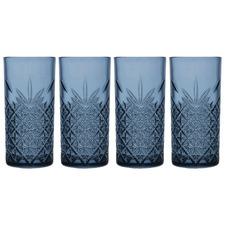 Blue Timeless 450ml Highball Glasses (Set of 4)