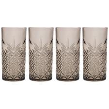 Grey Timeless 450ml Highball Glasses (Set of 4)