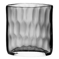 Dimpled Short Glass Vase