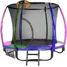 Kahuna Rainbow Trampoline with Basketball Set