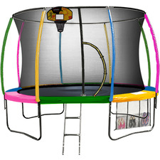 Rainbow Kahuna Trampoline with Basketball Set