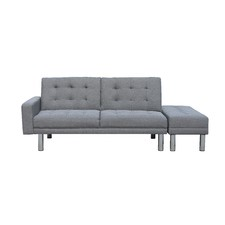 Futon 3 Seater Sofa Bed with Ottoman