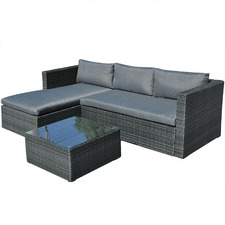 3 Seater Malibu Outdoor Sofa & Table Set
