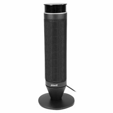 53cm Black Pronti Portable Electric Ceramic Tower Heater