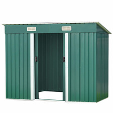 Green Danni Sloping Garden Shed