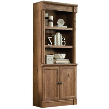 Vintage Oak Palladia Library Cabinet with Doors