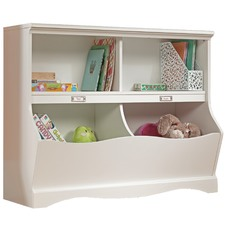 Soft White Pogo Bookcase Cabinet